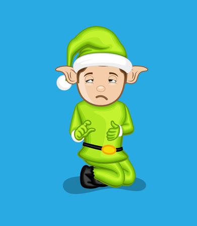 innocent: Sad Innocent Elf Character Face Expression