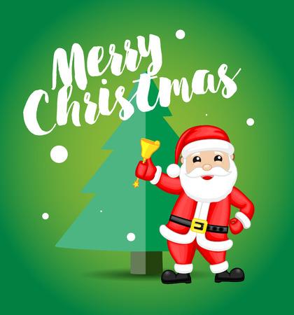 happy christmas: Happy Santa Christmas Greeting Card