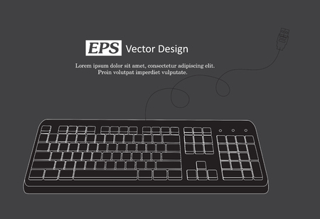 input device: Retro Keyboard Vector Template