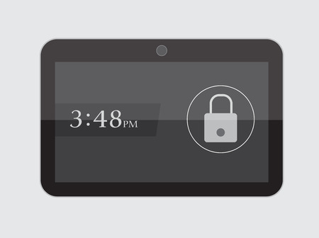display size: Lock Screen in Tablet
