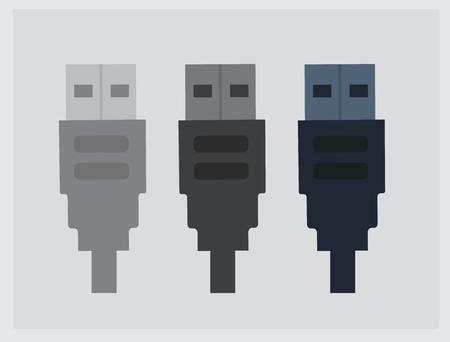 usb various: USB Icons Vector Illustration