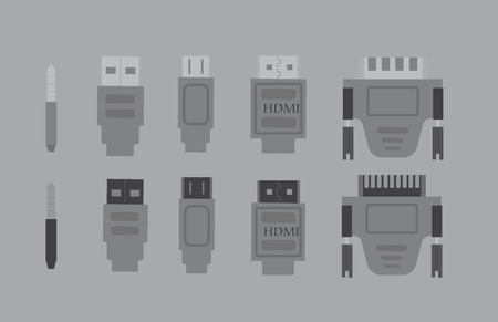audio plug: Set of Five PC Connectors