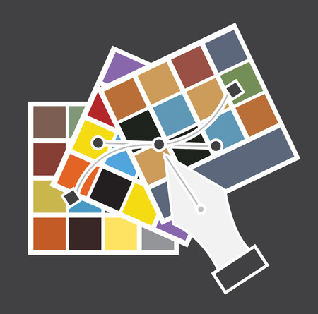 saturation: Color Swatches with Pen Tool Vector Illustration