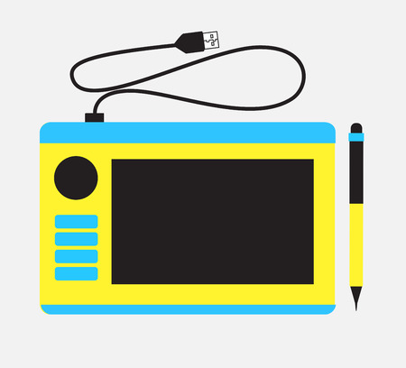function key: Graphic Tablet with Keys Vector