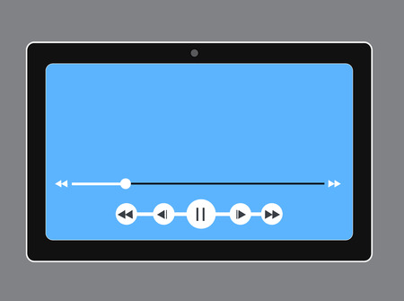 music player: Music Player in Tablet Vector