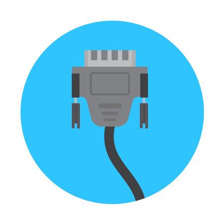 vga: Conector Icono VGA Vectores