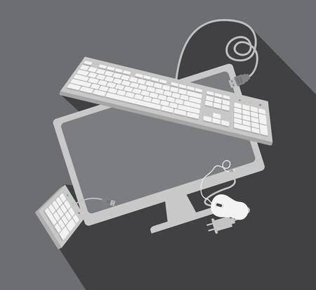 numpad: Tech Gadgets Vector Elements Illustration