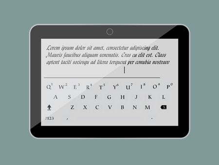 display size: Keypad in Tablet