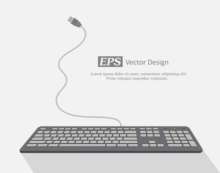 qwerty: Keyboard Template Vector Illustration