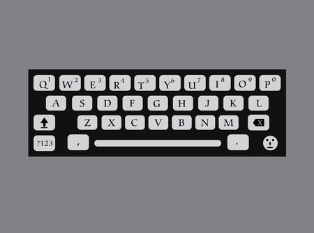 input device: Alphabets Keys Vector Illustration