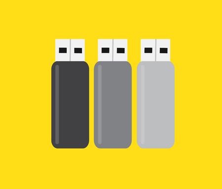 USB Flash Drives Set Vector