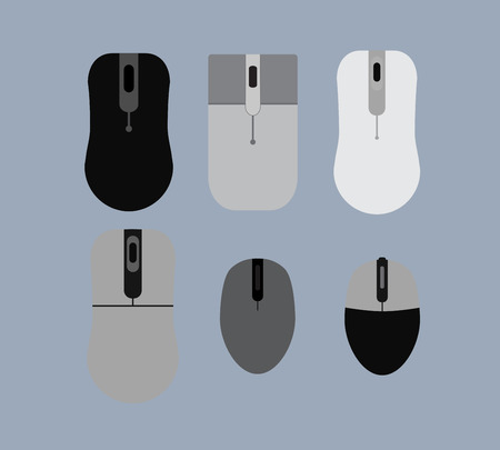 laptop repair: Vector Designs of Optical Mouse Illustration