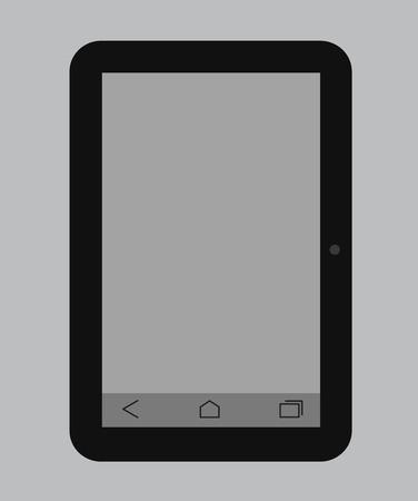palmtop: Tablet Vector Illustration