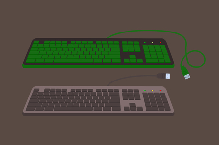 input device: Variety of Keyboards Vector