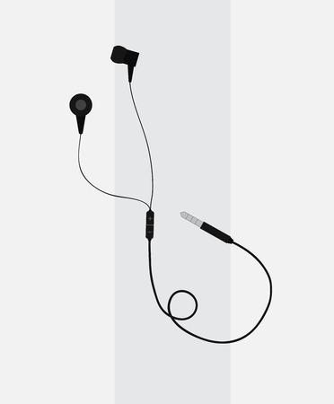 portable audio: Earphone Vector
