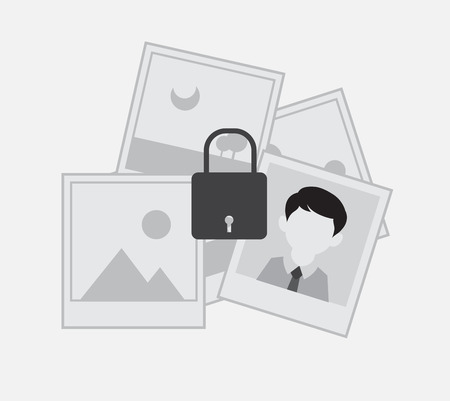 picture gallery: Picture Gallery Lock Vector Concept