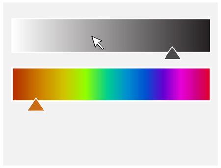 rainbow slide: Color Palette with Slider Vector