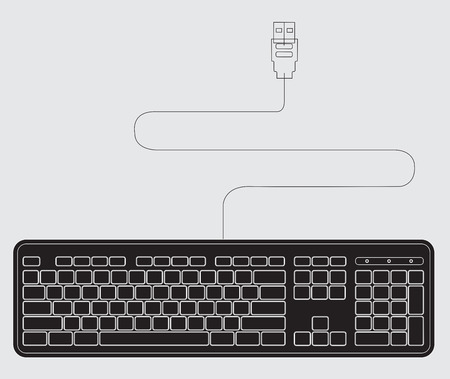 input device: Outline Keyboard Vector