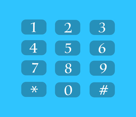 buttons vector: Number Buttons Vector