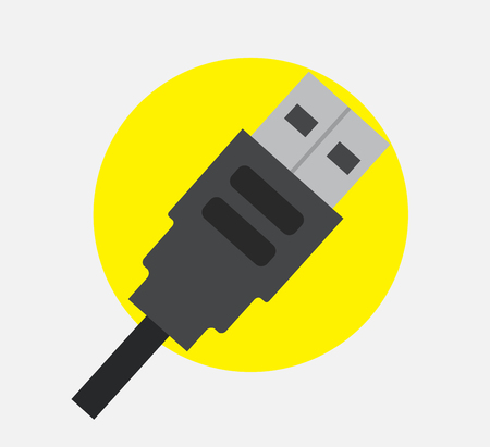 USB Cable Plug Vector