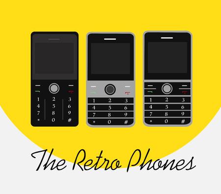 retro: Retro Phones Illustration