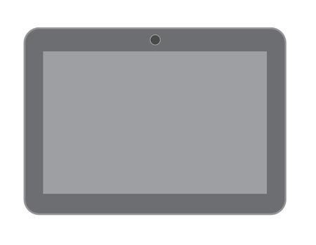 palmtop: Blank Vintage Tablet Vector Illustration