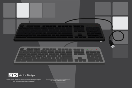input device: Keyboards Vector