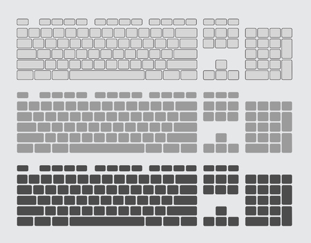 input device: Keyboard Keys Vector Set