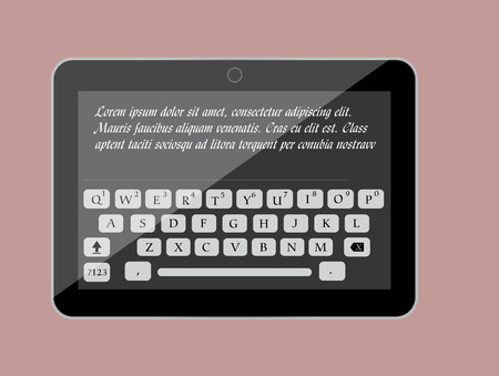 qwerty: Message Typing in Tablet