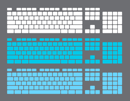 input device: Set of Keyboard Keys Illustration