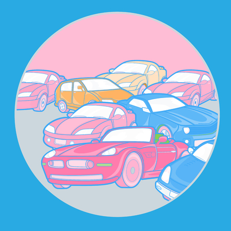 accidental: Accidental Cars Background Illustration