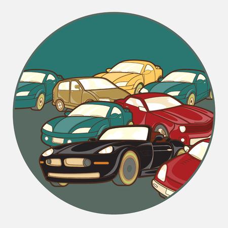 Cars Rush Background