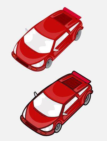 Red Racing Cars Vectors