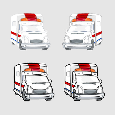boxcar: Ambulance Vehicles Vector Set