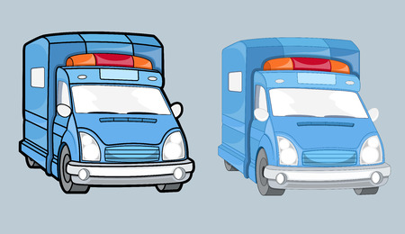 boxcar: Ambulance Cars Vector Set