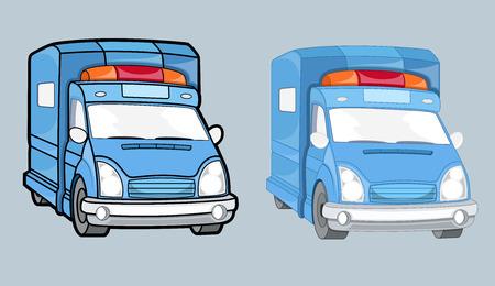 Ambulance Cars Vector Set