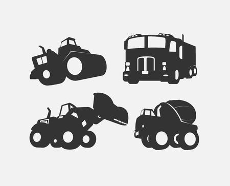 建設車両ベクトル図形の下  イラスト・ベクター素材
