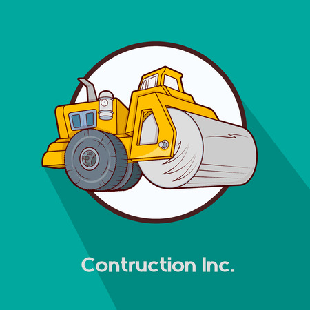 road roller: Road Roller Construction Vehicle
