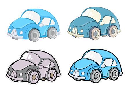 motorcar: Cute Small Car Designs Vector