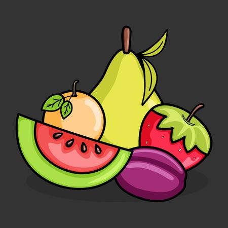 Mix Fruits Vector