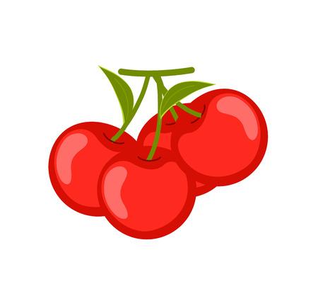 Ripe Cherries Vector Illustration