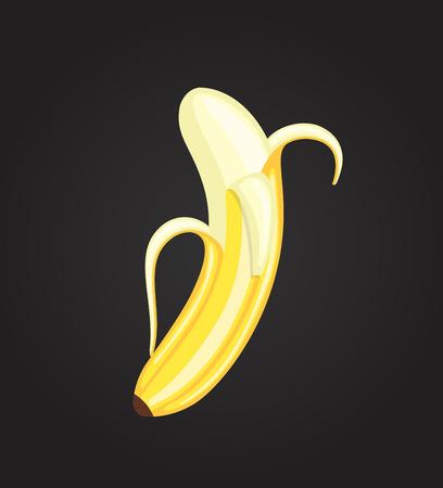 Peel Off Banana Vector