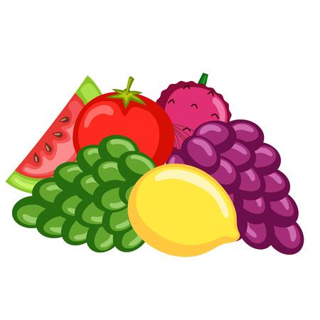 Vegetarian Fruits Vector