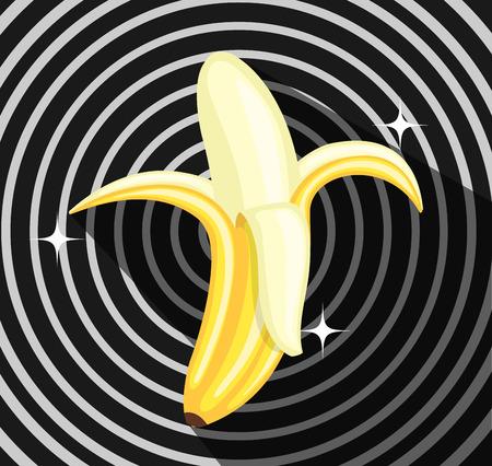 Banana Isolated on Retro Background
