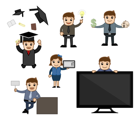 Educational and Technology Cartoon Graphics