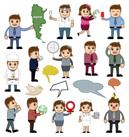 Various Profession and Business People Vectors