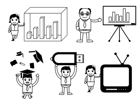 Business Concept - Cartoon Vectors
