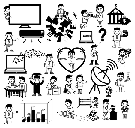 Cartoon Concepts of Business and Communication