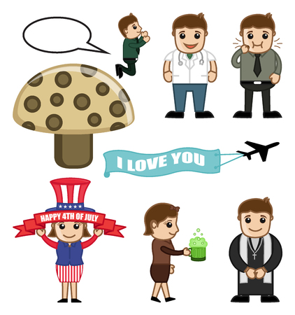 Cartoon People Concepts Vectors