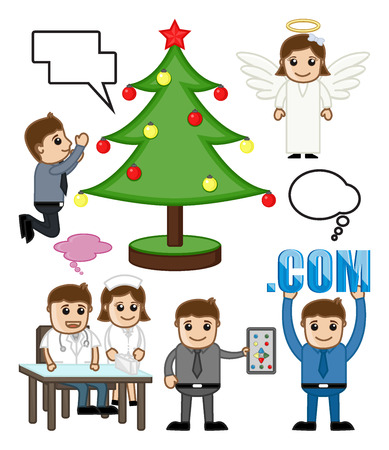 Holiday and People Profession Vector Illustration